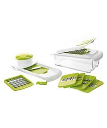 Image of 9pc green & silver-tone multi-cutter