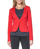 Red cotton blend blazer