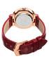Red leather & Swarovski crystal watch Sale - akribos Sale