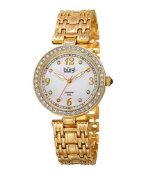Gold-tone Swarovski bracelet watch
