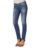 Grupee blue cotton blend skinny jeans