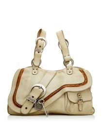 Gaucho ivory leather shoulder bag