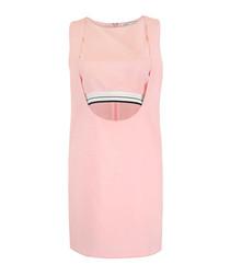 Pink cut-out waist dress
