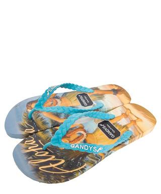 bbd9a9a68fe054 Men s Aloha blue flip-flops Sale - Gandys Sale