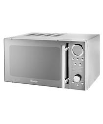 Image of Chrome mirrored digital microwave 800W