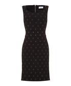 Black embellished pencil dress