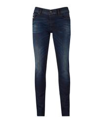 Sleenker dark blue skinny jeans