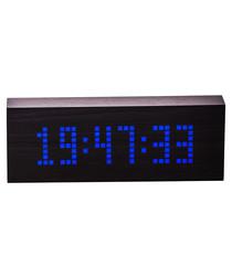 Image of Black wooden digital clock