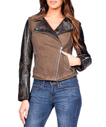Women's Cheadle leather & suede jacket