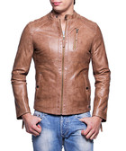 Fernando sand leather jacket