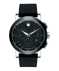 Museum Sport black PVD & rubber watch