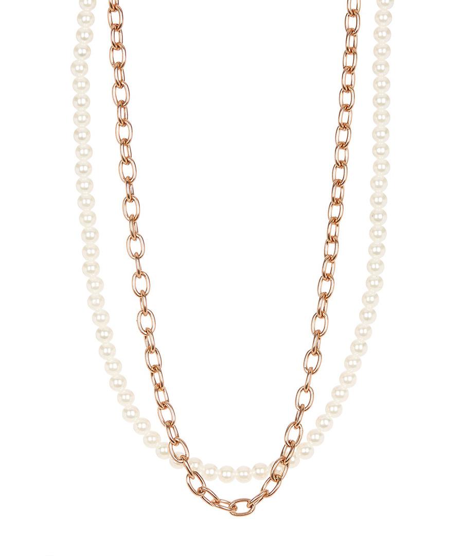 18k rose gold-plated & pearl necklace  Sale - liv oliver