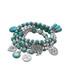Silver-plated turquoise charm bracelet  Sale - LIV OLIVER Sale