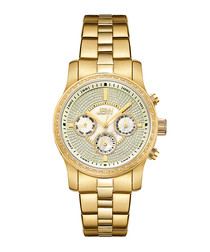Vixen gold-tone & diamond detail watch