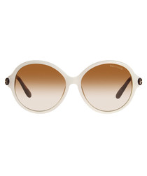 Milena contrast round sunglasses