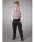Boy's 2-11yrs wine waistcoat set Sale - Couche Tot Sale