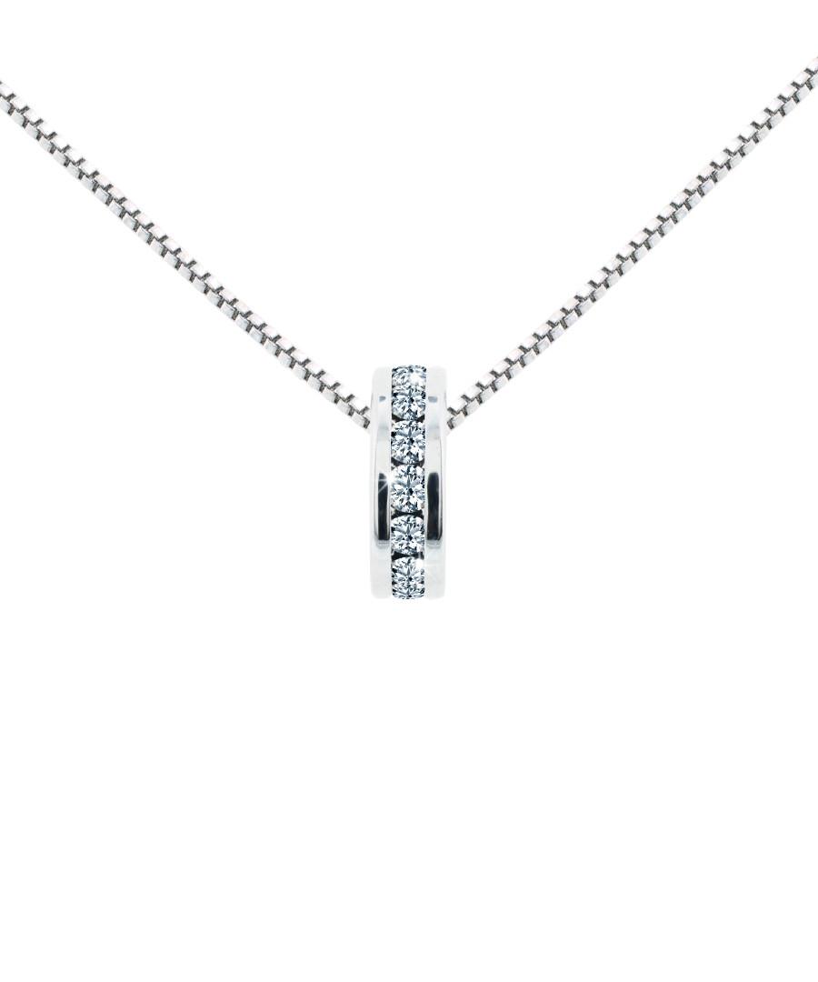Domino silver-tone crystal pendant Sale - diamond style
