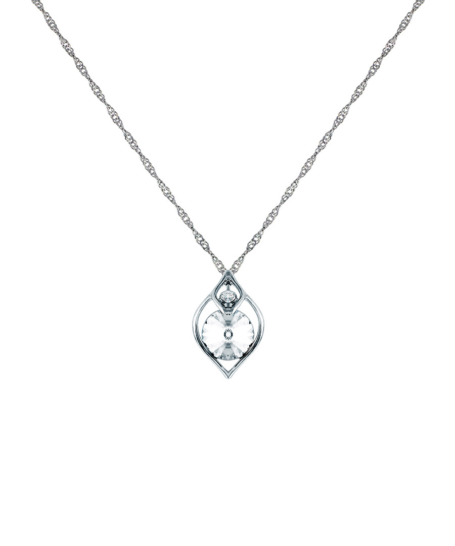 Eden white gold-plated & crystal necklace Sale - diamond style