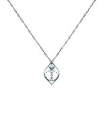 Eden white gold-plated & crystal necklace
