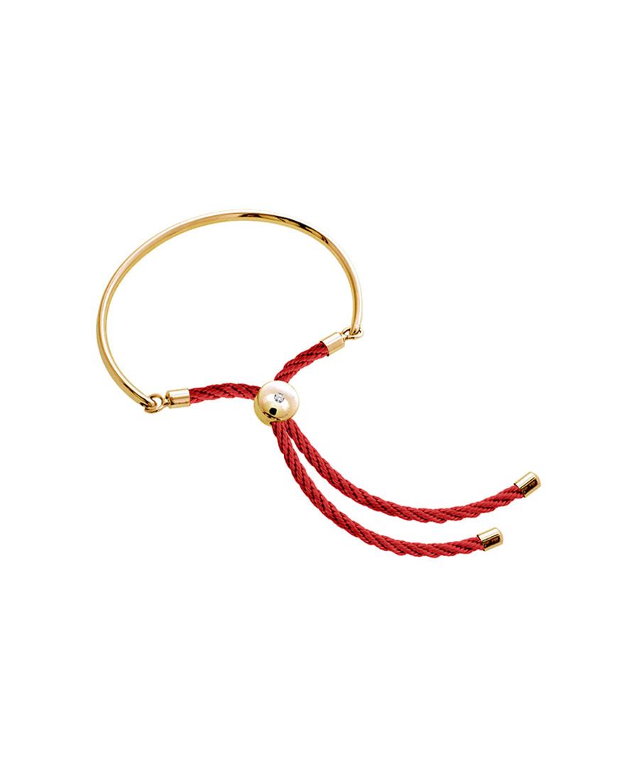 Bali gold-tone & red cord bracelet Sale - diamond style