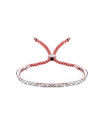 Java rose gold-plated & crystal bracelet
