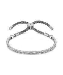 Java white gold-plated crystal bangle