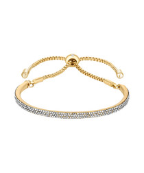 Java Lux gold-tone & crystal bracelet
