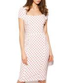 Angel pink polka dot pencil dress