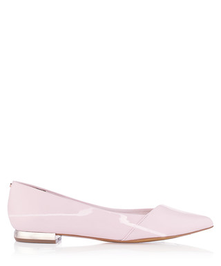 5dbe39f8fe4f0 Pasces pink patent leather flats Sale - Ted Baker Sale
