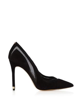 bd72bdf88fbcf3 Emilinea black suede mesh panel heels Sale - Ted Baker Sale