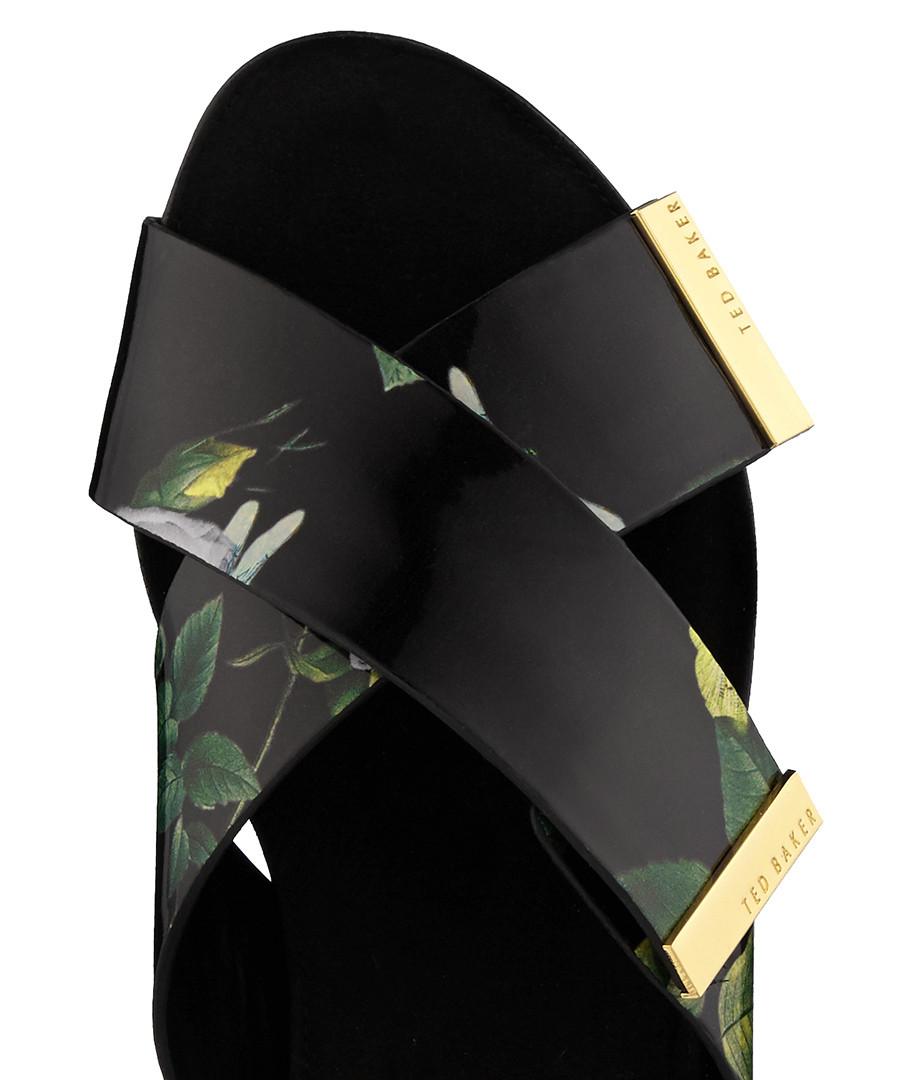 2c4cfff855f065 ... Soave black floral print sliders Sale - Ted Baker