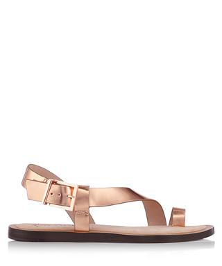 5ff45c1e3e597 Prendie rose gold leather sandals Sale - Ted Baker Sale