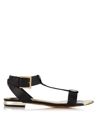 20831ec74adb7a Psaphire black leather sandals Sale - Ted Baker Sale