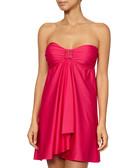 Rose embellished bandeau dress