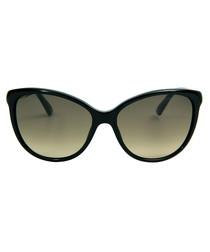 Black & gold cat eye sunglasses