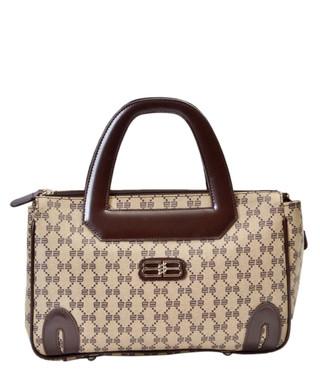 580e7f89b979 BB beige   brown monogram shoulder bag Sale - VINTAGE Balenciaga Sale