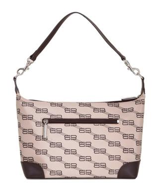 e2b7ade9199a BB brown   beige leather trim bag Sale - VINTAGE Balenciaga Sale