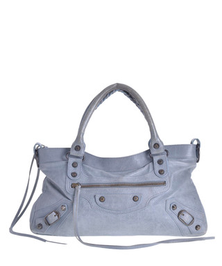 5009bb82a168 Editor s The First grey leather bag Sale - VINTAGE Balenciaga Sale