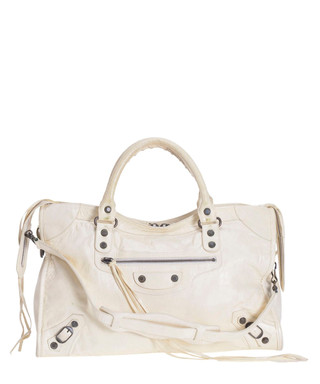 4aa7b12b8331 The City white leather grab bag Sale - VINTAGE Balenciaga Sale