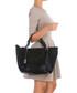 Black weave-effect leather shoulder bag Sale - anna morellini Sale
