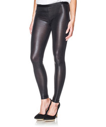 Joey black leather-look leggings