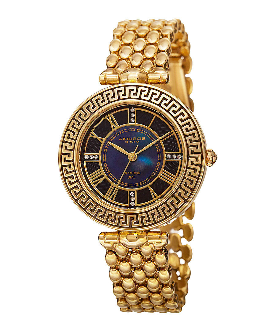 Gold-tone bezel detail watch  Sale - akribos XXIV