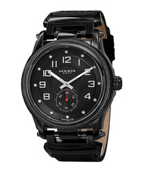 Black & diamond time marker watch