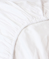 Image of White double fitted sheet