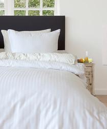 Image of White double duvet set