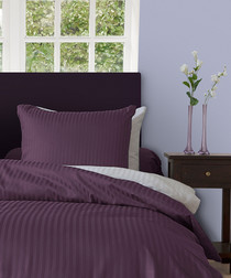 Image of Purple double duvet set