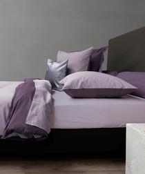 Image of Lilac & purple percale double duvet set