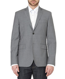 Grey check wool jacket
