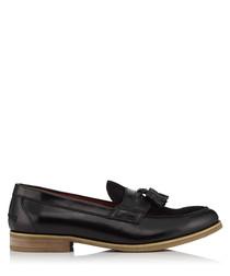 Luke black leather tassel loafers
