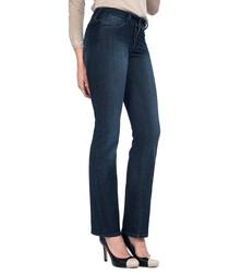 Marilyn dark blue cotton straight jeans